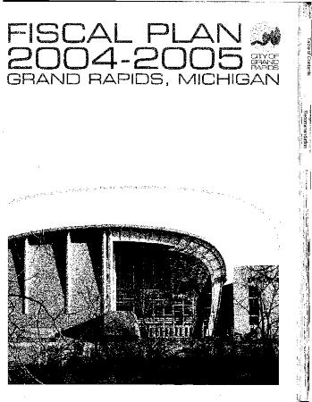 Fiscal Plan excerpts, 2004-2005