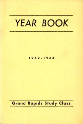 Grand Rapids Study Club Yearbook for 1962-1963