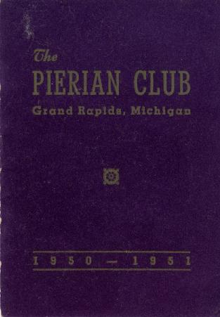 The Pierian Club Yearbook for 1950-1951