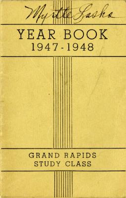 Grand Rapids Study Club Yearbook for 1947-1948