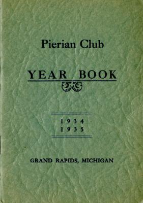 The Pierian Club Yearbook for 1934-1935