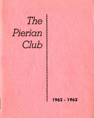 The Pierian Club Yearbook for 1962-1963
