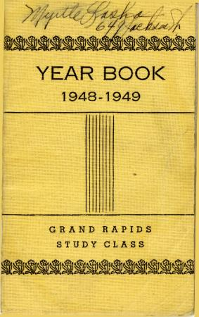 Grand Rapids Study Club Yearbook for 1948-1949