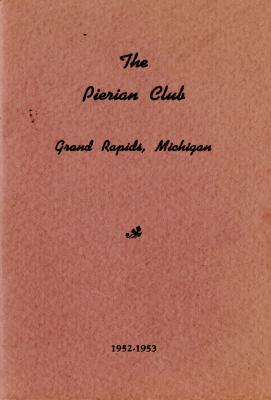 The Pierian Club Yearbook for 1952-1953