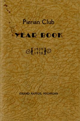 The Pierian Club Yearbook for 1929-1930