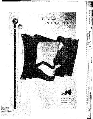 Fiscal Plan excerpts, 2001-2002