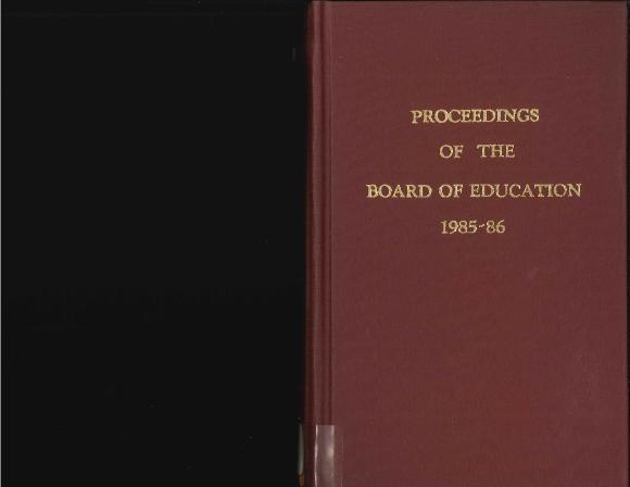 Budget for Grand Rapids Public Schools, 1986-1987