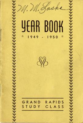 Grand Rapids Study Club Yearbook for 1949-1950