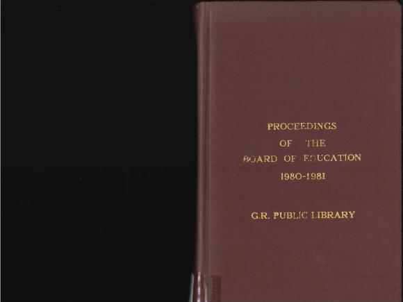 Budget for Grand Rapids Public Schools, 1981-1982