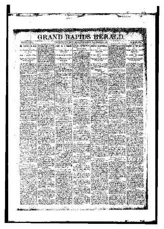 Grand Rapids Herald, Friday, November 24, 1893