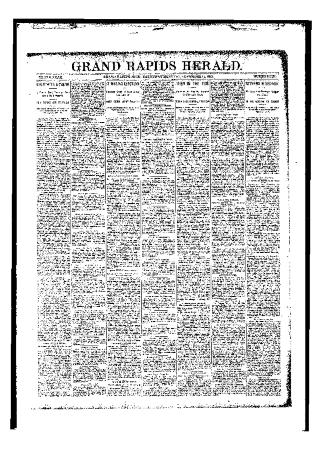 Grand Rapids Herald, Saturday, November 11, 1893